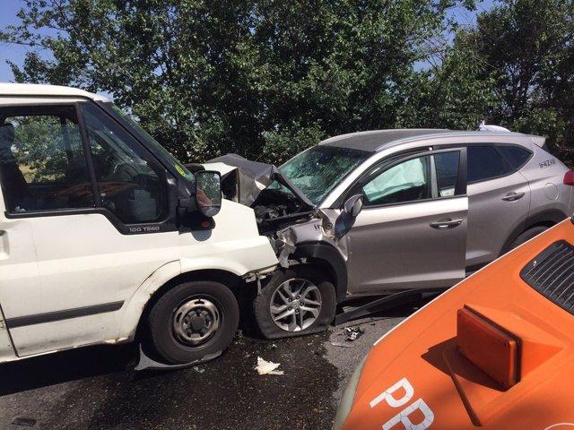 Una imagen del accidente