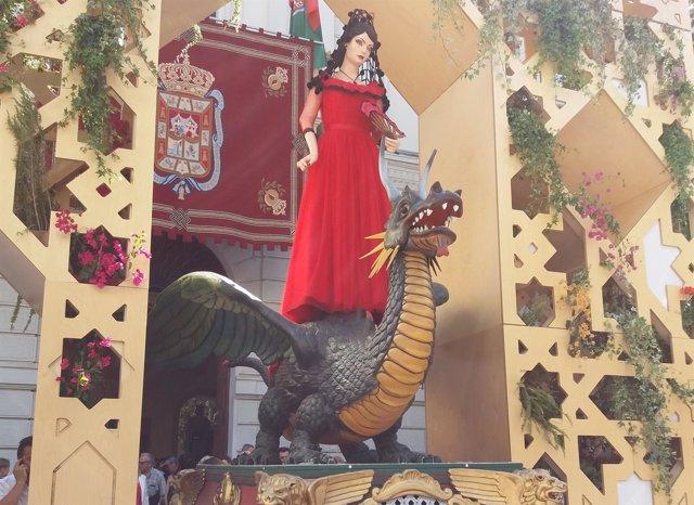 La Tarasca, vestida con aires lorquianos en 2017
