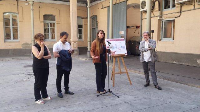 Montserrat Ballarín, Jaume Asens, Janet Sanz y Ton Salvadó