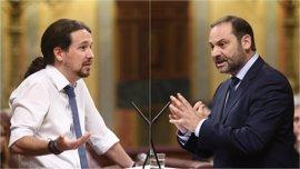 """Pablo Iglesias ve """"enormes avances"""" en el nuevo PSOE y anima a trabajar ya en una nueva moción de censura"""