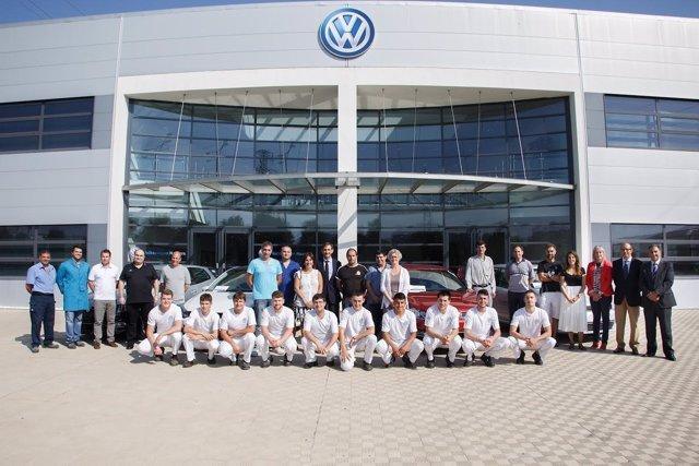 Responsables de Volkswagen Navarra y lo centros de FP
