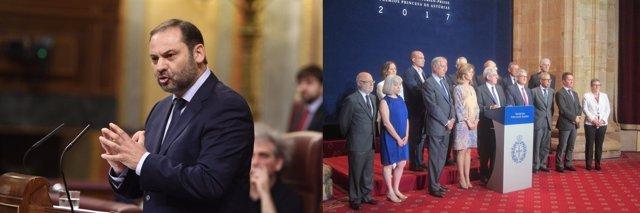 José Luis Ábalos y el jurado Premio Princesa de Asturias