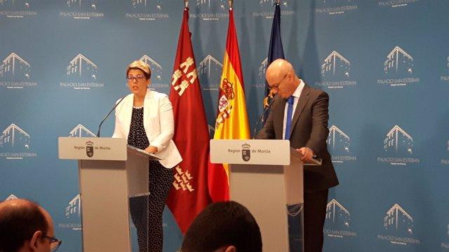 Imagen de la rueda de prensa tras el Consejo de Gobierno