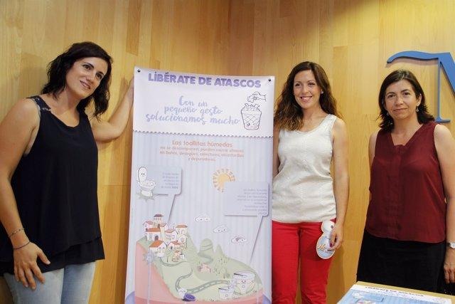Campaña contra toallitas por inodoro bravo medio ambiente concienciación málaga