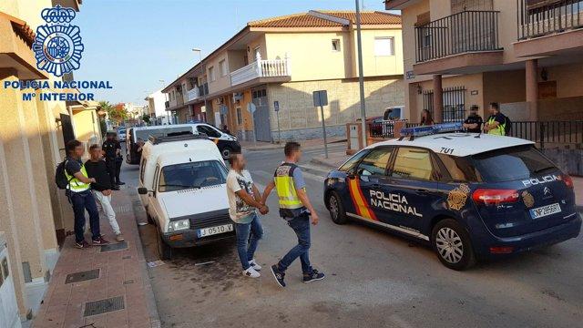 Imagen del detenido por la Policía Nacional en Cartagena