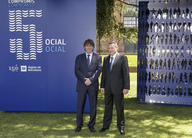 Pte.Carles Puigdemont, Ángel Simón (Agbar)
