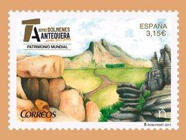 Correos emitirá un sello por el aniversario del Sitio de los Dólmenes como Patrimonio Mundial de la Unesco