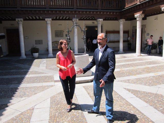 Pilar Vicente junto a Luis Fuentes
