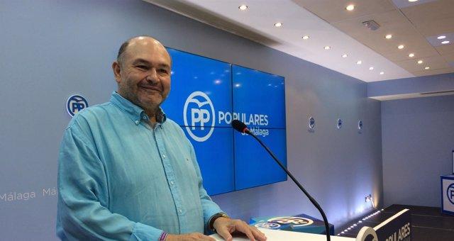 Antonio Garrido (PP) en rueda de prensa