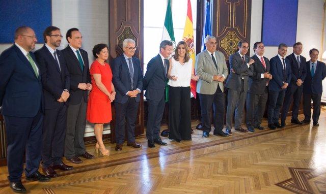 Susana Díaz se reúne con los rectores andaluces