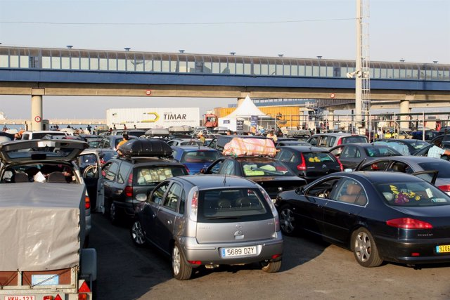 Imagen de la Operación Paso del Estrecho en Algeciras (Cádiz)