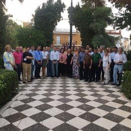 Reunión de los populares en Herrera.