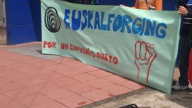 """Euskal Forging cumple su segunda semana de huelga indefinida ante la actitud """"inmovilista e intransigente"""" de la empresa"""