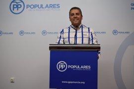 "PP critica que Tovar tenga urgencia en un Pacto del Agua ""pero impida la comparecencia de López Miras"""