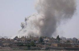 Al menos 300 civiles han muerto desde marzo por los bombardeos de la coalición internacional sobre Raqqa