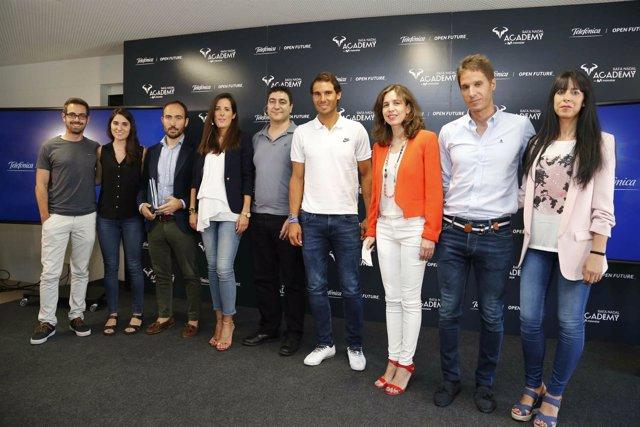 Nadal y Ana Segurado con los ganadores