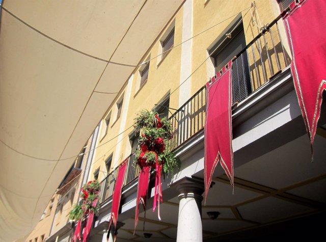 Corpus Toledo 2017, calles, adornos, toldo, flores, recorrido