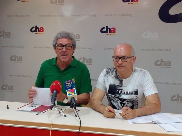 Gregorio Briz y David Félez, de Chunta Aragonesista