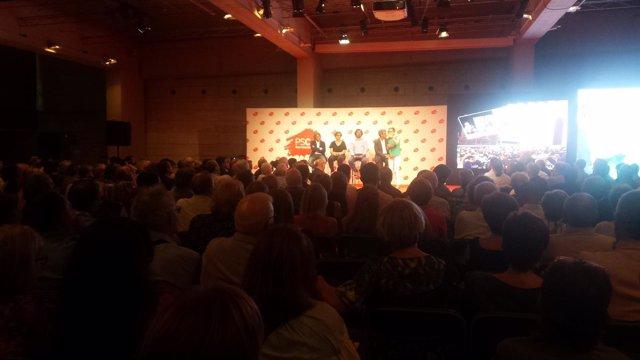 Los concejales del PSC en Barcelona en un acto de partido