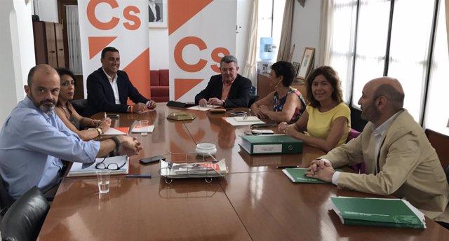 Reunión de trabajo de PSOE-A y Cs sobre fiscalidad