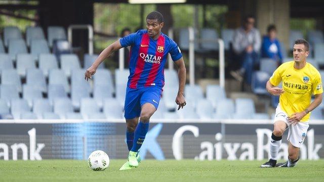 Marlon Santos con el filial del FC Barcelona