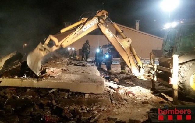 Derrumbe de una casa en Collbató (Barcelona)