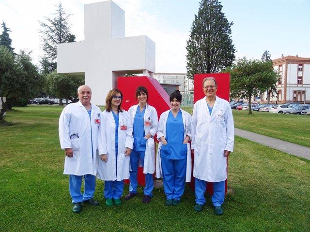 Integrantes de la Unidad de Cirugía Endocrina del CHN