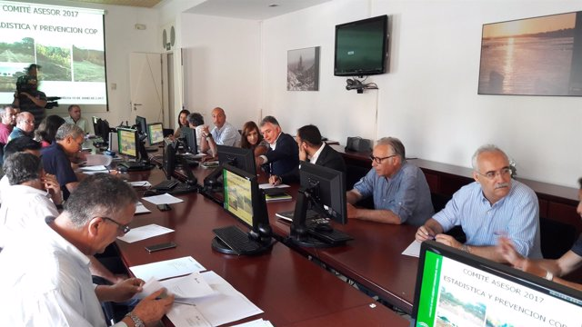 Comité asesor del Infoca en Huelva.