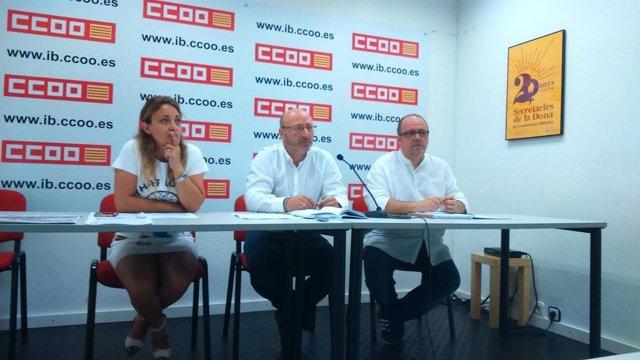 Representantes de CCOO Baleares