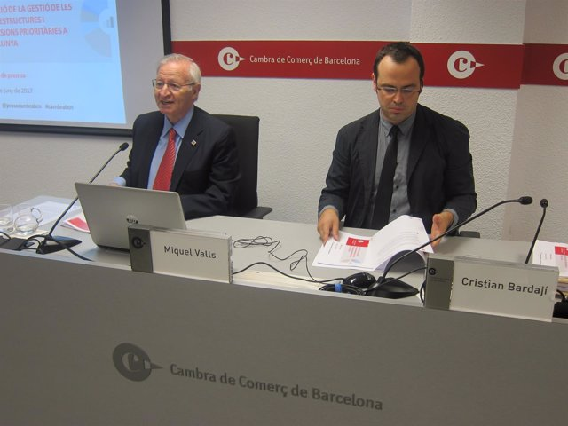 Miquel Valls y Cristian Bardají, durante la presentación