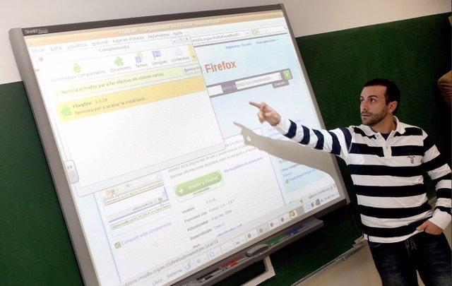 Imagen de archivo de un docente