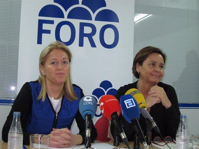 Cristina Coto y Carmen Moriyón.