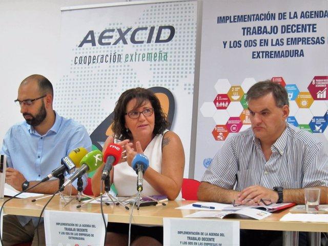 Ángel Calle, Patrocinio Sánchez y Pablo Araujo