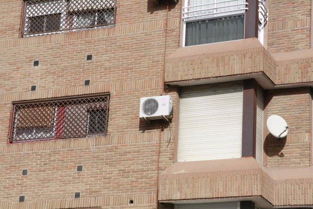 Aire acondicionado, fachada