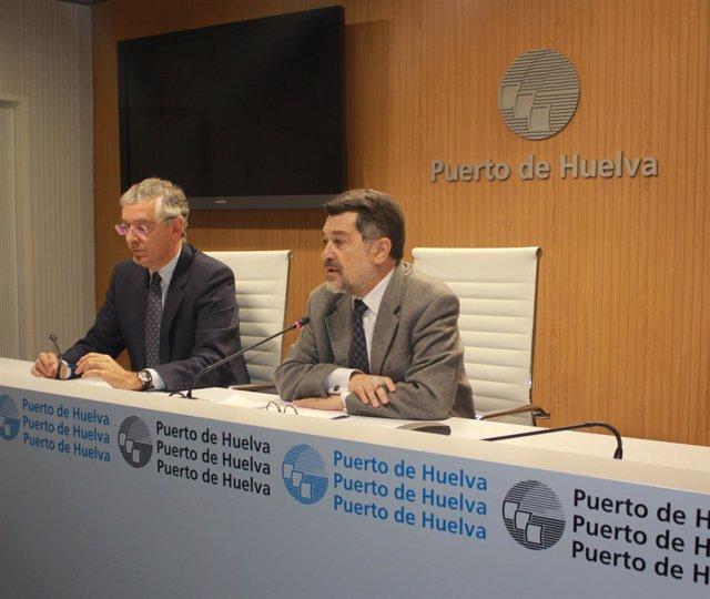 El presidente del Puerto, Javier Barrero, junto a Ignacio Álvarez-Ossorio.