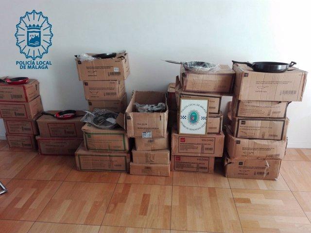 Sartenes recuperadas en Málaga