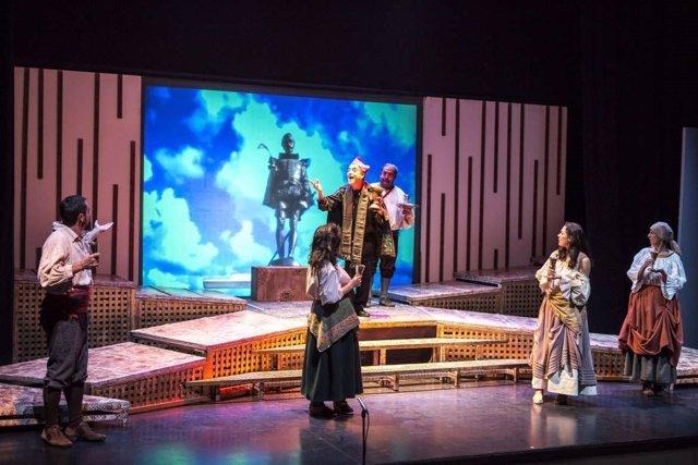 Una escena de 'Soñando Cervantes', de Teatrapo