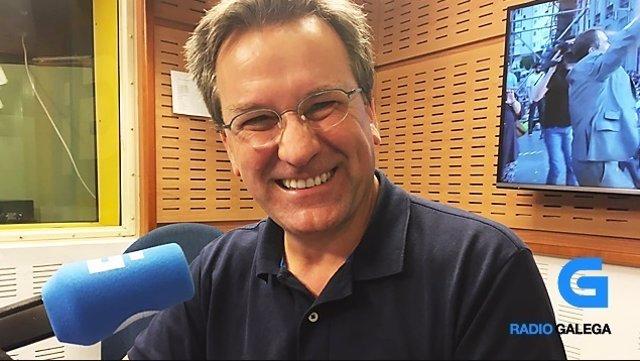Xavier Vence en la Radio Galega