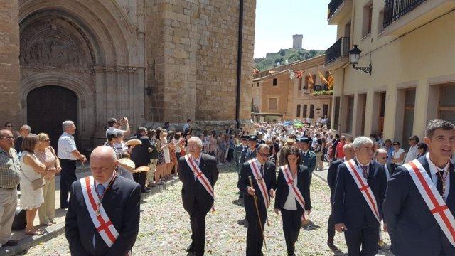 La corporación provincial ha asistido un año más al día del Corpus en Daroca
