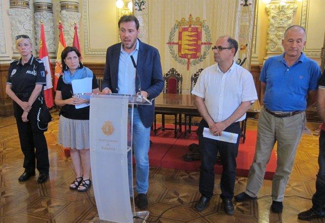 El alcalde anuncia las medidas de restricción del tráfico en Valladolid