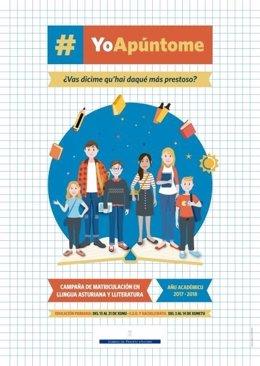 Campaña de matriculación en Llingua Asturiana.