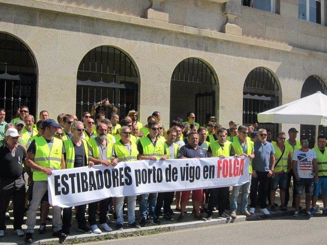 Protesta De Estibadores En Vigo.