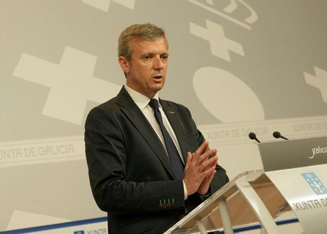Alfonso Rueda en el Consello de la Xunta