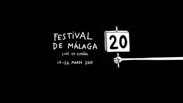 Cartel de la 20 edición del Festival de Málaga. Cine en Español