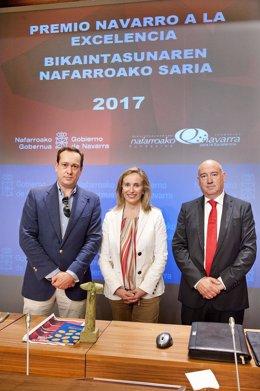 Enrique García-Mina, Izaskun Goñi y Marino Barasoain