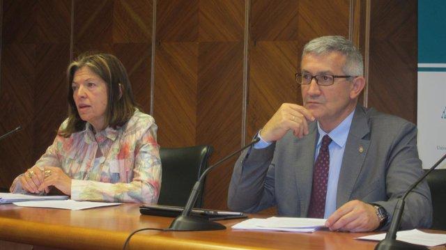 Vicerrectora y Rector de la Universidad de Oviedo