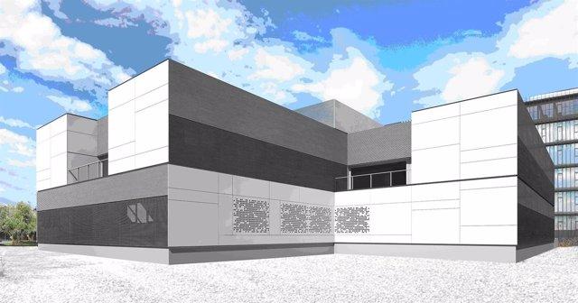 Vista virtual del nuevo centro de salud de Los Olivos en Huesca