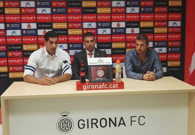 Gorka Iraizoz se presenta como jugador del Girona