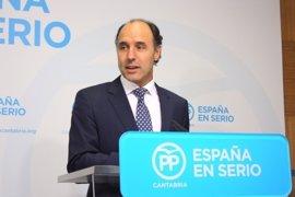 La dirección nacional del PP pide a Ignacio Diego respetar el resultado del congreso cántabro y decisiones de Buruaga