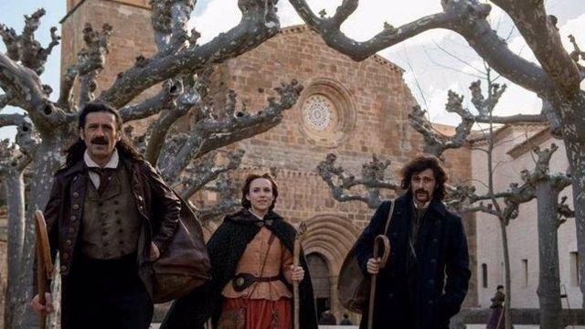 Rodaje de 'El Ministerio del Tiempo' en el Monasterio de Veruela